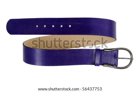 blue belt - stock photo