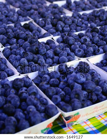 blue berries in a farmers market - stock photo