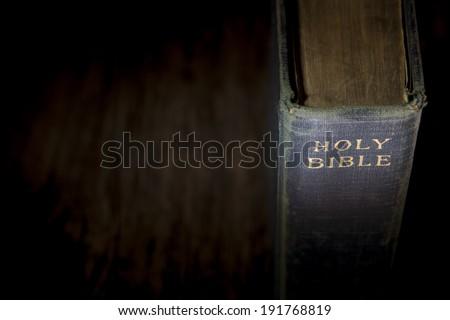 Blue Bible - stock photo