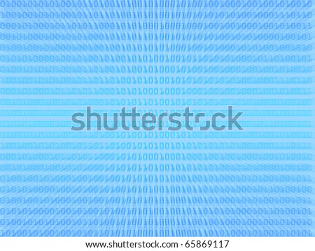 Blue binary code background - stock photo