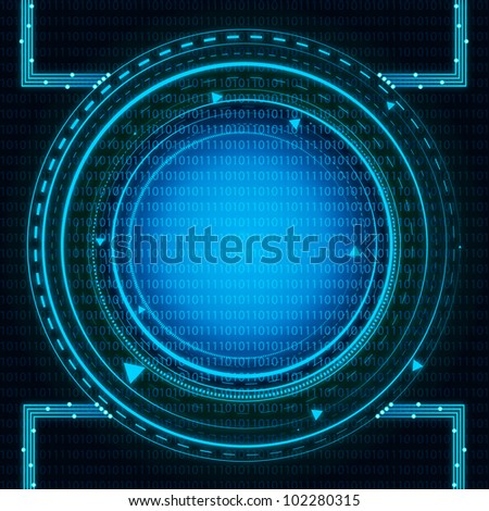 Blue Binary Technology. Eps Version Also Available In Gallery. - stock photo