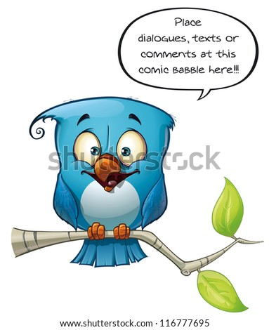 Blue Bird Happy - stock photo
