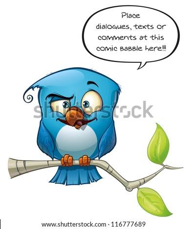 Blue Bird Smarty - stock photo