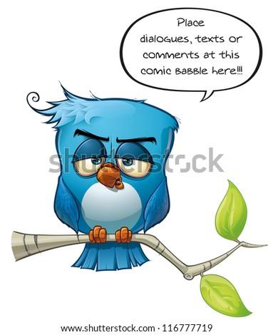 Blue Bird Sober - stock photo