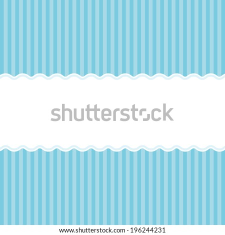 Blue birth announcement or baby shower invitation card background for a newborn boy. - stock photo