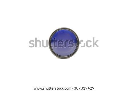 Blue black yoyo Isolated White Background - stock photo