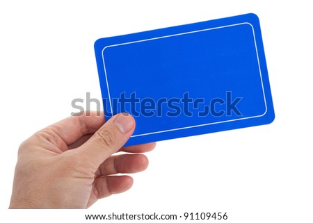 Blue Blank Card for message - stock photo