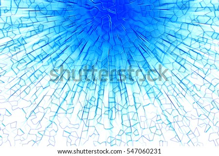 Blue blast abstract background.