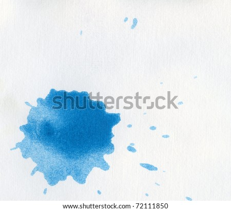 blue blot isolated on white for your design - stock photo
