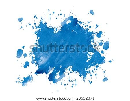 Blue blot, vector - stock photo