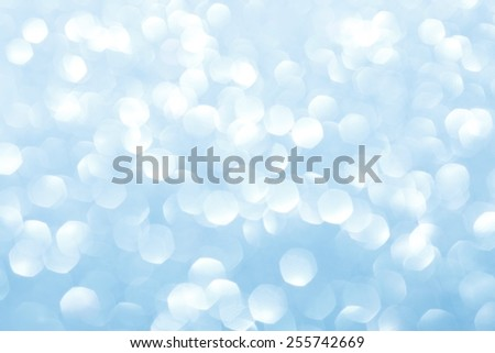 Blue blurred lights. Glittering abstract background