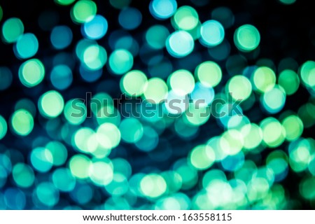 Blue blurred lights in the night - stock photo
