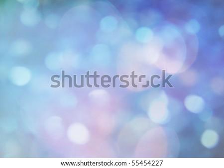 Blue bokeh - stock photo