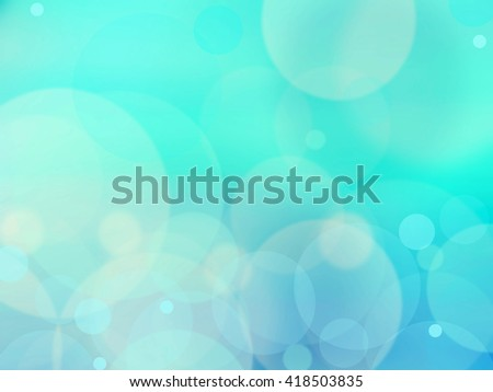 Blue bokeh abstract greent background