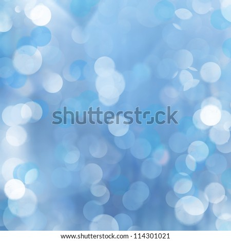 Blue bokeh abstract light background. Illustration of optical effect. - stock photo