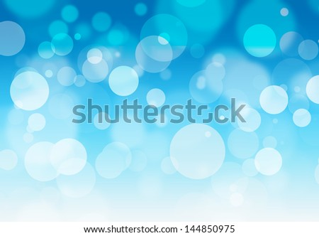 blue bokeh background - stock photo