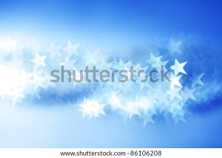 blue bokeh background close up - stock photo