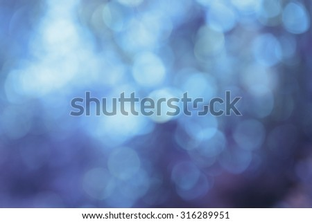 blue bokeh background, real optic blurred photo - stock photo