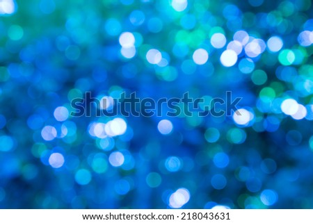 Blue bokeh blurred background.
