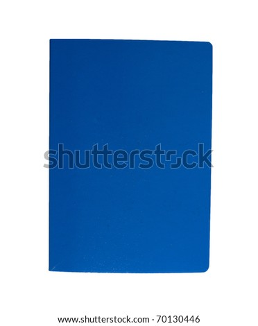 Blue book isolated - stock photo