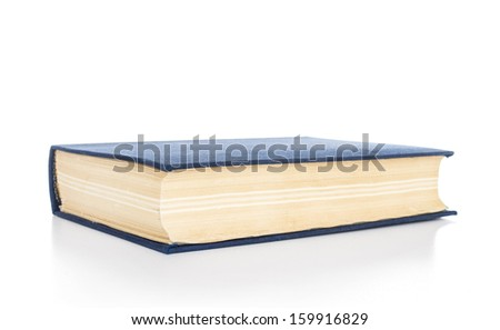 Blue book, isolated on white background - stock photo