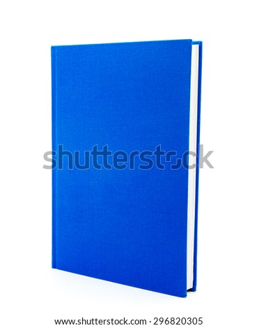 blue book isolated on white background - stock photo