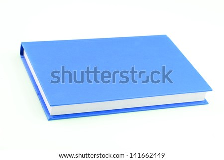 Blue book on isolated - stock photo