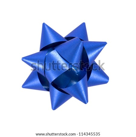 Blue Bow - stock photo
