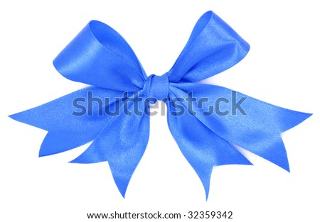 blue bow ribbon