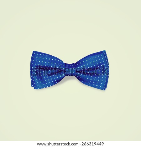 blue bow tie - stock photo