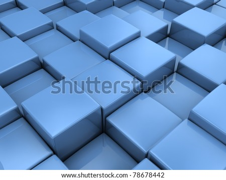 Blue boxes background