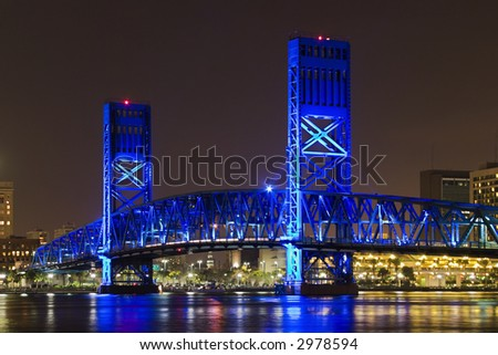 Blue Bridge - stock photo