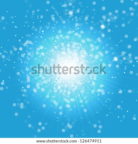 Blue Bright Background - stock photo