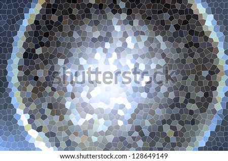 Blue brown gray color gradient spiral stained glass or tile surface pattern - stock photo