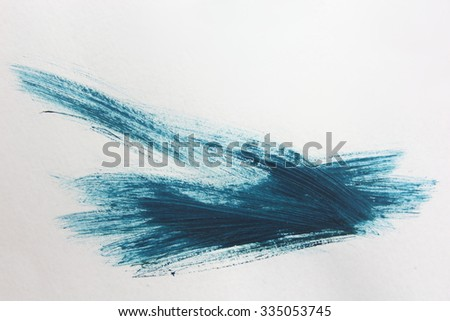 Blue Brush Stroke 1 - stock photo