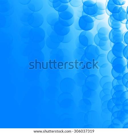 blue bubble background - stock photo