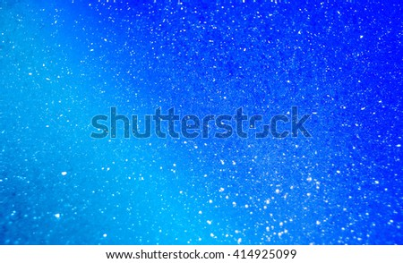 Blue Bubble Background with shimmer effect abstract/ PowerPoint background - stock photo