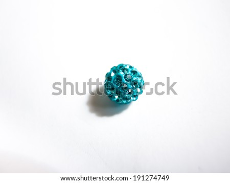 blue bubble gum balls isolated on white - stock photo