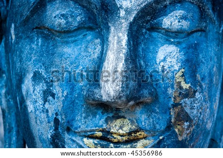 Blue Buddha. - stock photo