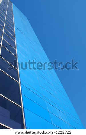 blue building - stock photo