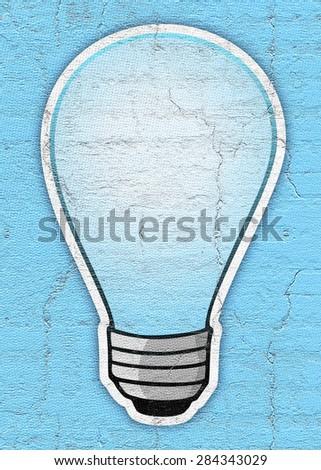Blue bulb - stock photo