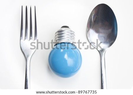 Blue bulb and Fork
