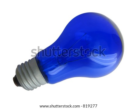 Blue bulb isolated on white