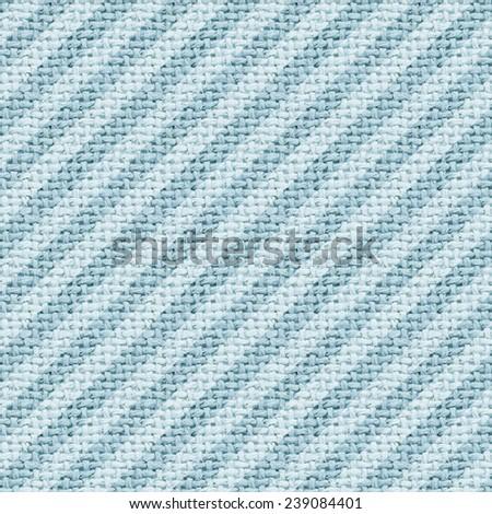 blue burlap texture digital paper with diagonal stripes - stock photo