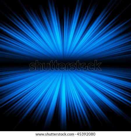Blue burst with space for your text - stock photo