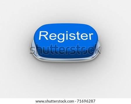 "Blue button ""Register"" - stock photo"