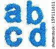 Blue Cable Alphabet - stock photo