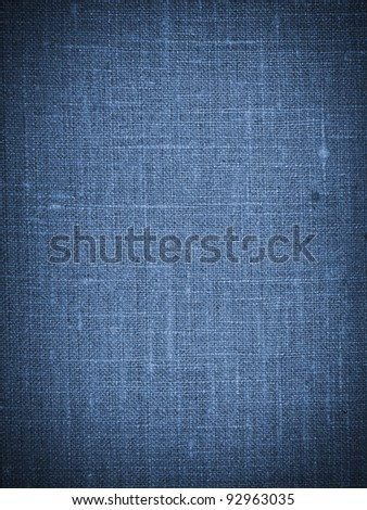 Blue canvas texture or background - stock photo