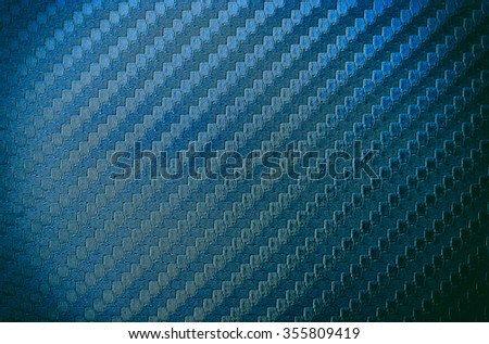 Blue carbon kevlar texture background - stock photo