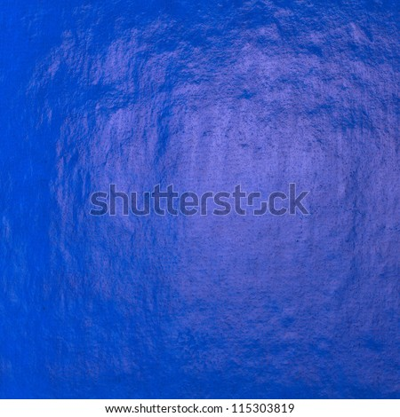 Blue carbon paper surface close up - stock photo
